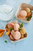 Apricot yoghurt macaroons