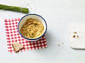 Vegan potato and tofu spread