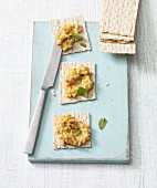 Minty sweetcorn and lentil spread with ginger (vegan)