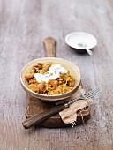 Oriental rice with chicken