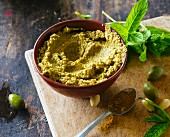 Green olive curry paste
