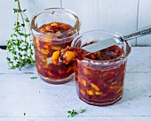 Peach and coriander preserve