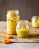 Homemade apricot mustard