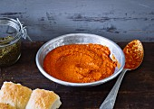 Homemade harissa spice paste