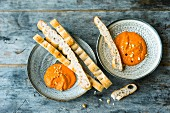 Muhammara (Syrian pepper and walnut paste)