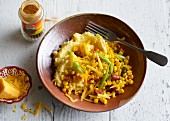 Tex-Mex polenta with sweetcorn and beans