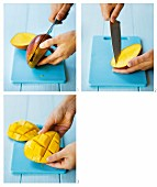 Preparing mango