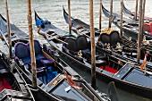 Artistic gondolas, Venice, Italy