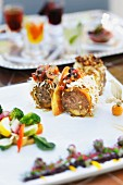 Minced lamb wrapped in potatoes, Marrakesh, Morocco