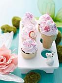 Ice-cream cone cupcakes