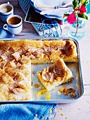 Greek-style custard slice