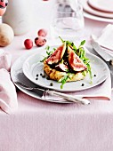 Ricotta tarts with figs