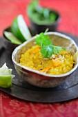 Kitchari (Ayurveda-Gericht mit Reis und Mungbohnen, Indien)