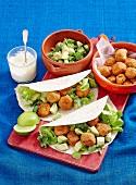 Mexican meatball tortillas