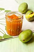 Mango jam with mangos