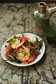Prawn and grapefruit salad with quinoa and a grapefruit vinaigrette