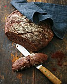 Cocoa and orange bread with almonds