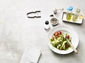 Vegan courgette salad with capers (Paleo diet)