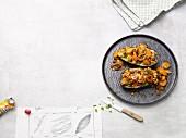 Auberginen gefüllt mit Möhren und Sultaninen (Paleo-Diät)