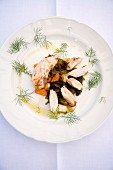 Coniglio alle verdure in umido (rabbit with braised vegetables, Italy)