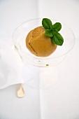 Sorbetto di prugne (Italian damson sorbet)