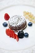 Flan di cioccolato caraibe con cuore morbido profumato al caffè (Schoko-Kaffee-Törtchen mit flüssigem Kern, Italien)