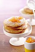 Scotch pancakes with jam