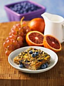 Muesli bar with blueberry and pumpkin seeds