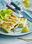 Grilled stuffed halloumi