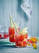 Gummy pear kid's punch with pineapple
