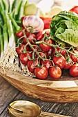 A bowl of fresh, organic vegetables