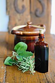 Homemade herb tincture