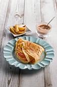 Vegane Pflanzendrink-Pfannkuchen ohne Ei