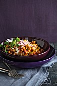 Chickpea and courgette dhal