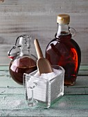 Sweeteners: maple syrup, crystal sugar and yacon syrup