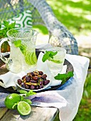 Maggie Beer - Maggie s Barossa Easter - Sparkling Chardonnay spritzer with Roasted olives with herbs and preserved lemon