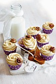 Cupcakes with caramel cream