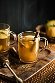 Apple punch with honey