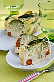 Microwave vegetable terrine