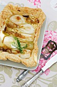 Caramelised spring onion tart