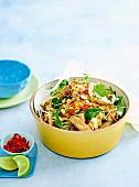 Pad thai pork salad