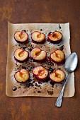 Oven-caramelised nectarines