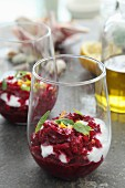 Beetroot salad with yoghurt, mint and orange zest