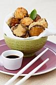 Mushroom and prawn tempura (Japan)