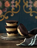 Vegan chocolate and coconut tartlets