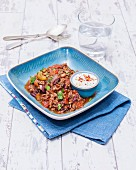 Chilli con carne with coriander