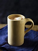 A mug of hot chocolate with marshmallows