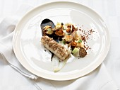 Turbot with truffles and chanterelle mushrooms