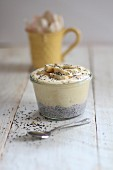 Banana yoghurt with chia seeds