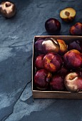 A crate of plums